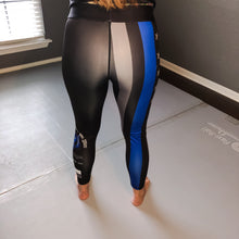 Load image into Gallery viewer, Thin Blue Line BJJ Spats / Yoga Pants