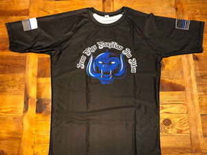 Black Short Sleeve Iron Pigs Rashguard