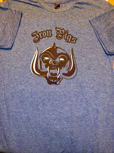 Heather Blue and Black Short Sleeve Iron Pigs T-Shirt