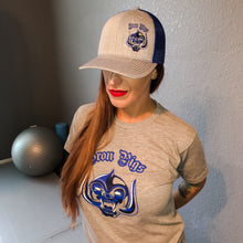 Load image into Gallery viewer, Iron Pigs Blue and Grey Snapback