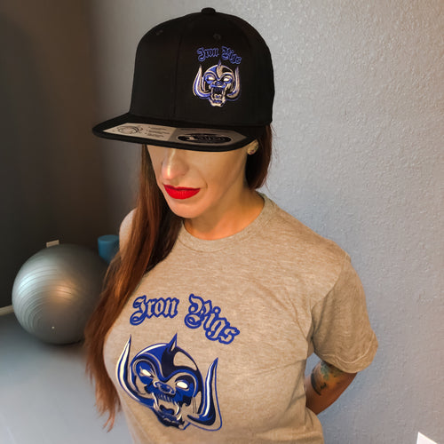 Iron Pigs Black and Blue Snapback