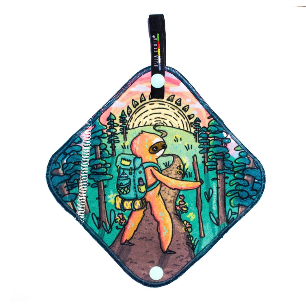 Kula Cloth ® Artist Series - 'Adventure Sloth'