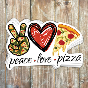 Peace Love Pizza Sticker