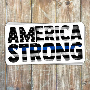 America Stong Thin Blue Line Sticker