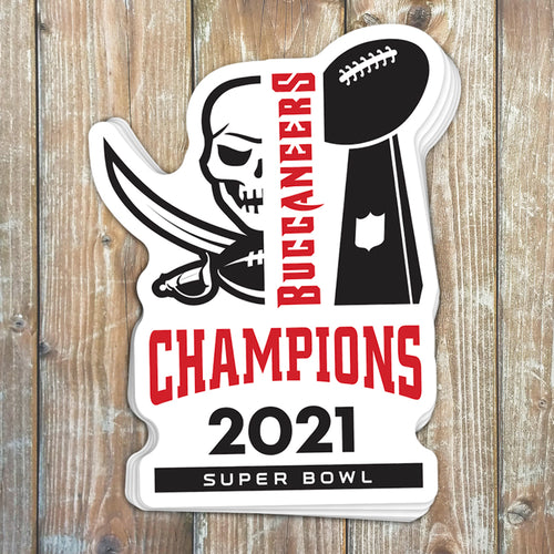 Tampa Bay Buccaneers Super Bowl Champions Sticker