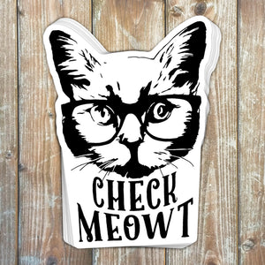 Check Meowt Sticker