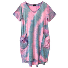 Load image into Gallery viewer, Tie Dye Oversized Pocket Dress