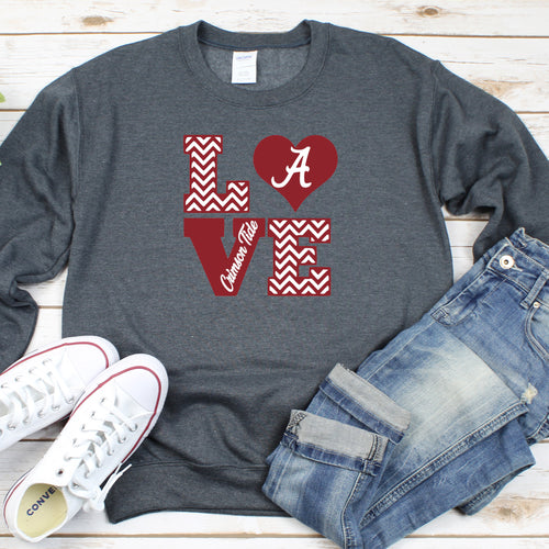 Crimson Love Crew Neck Sweater