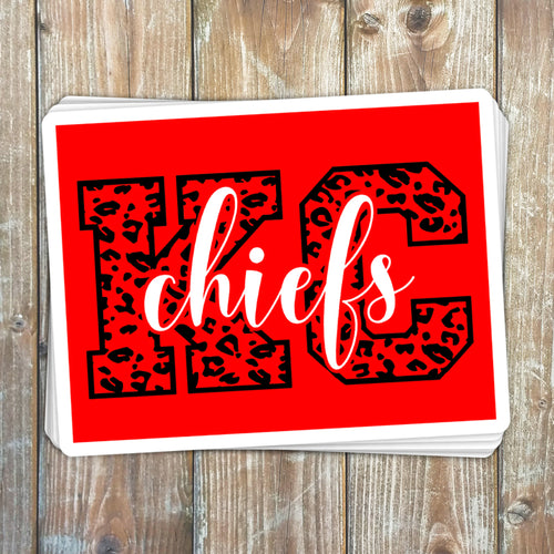KC Chiefs Sticker