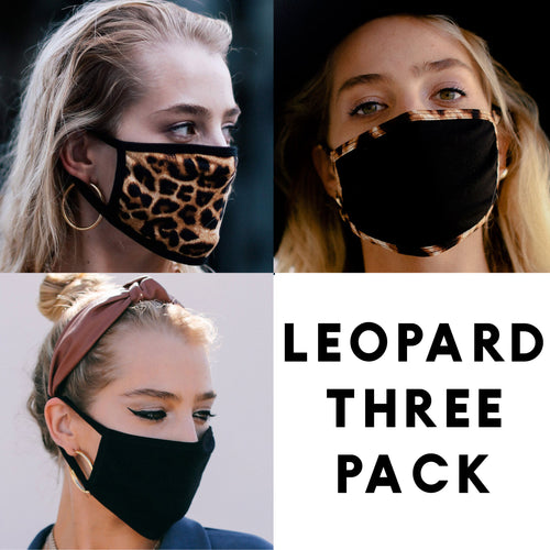 Leopard Print - Face Mask Three Pack