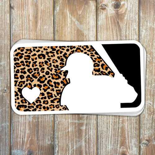 Leopard Baseball Sticker