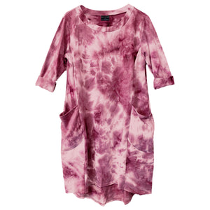 Tie Dye Oversized Pocket Dress