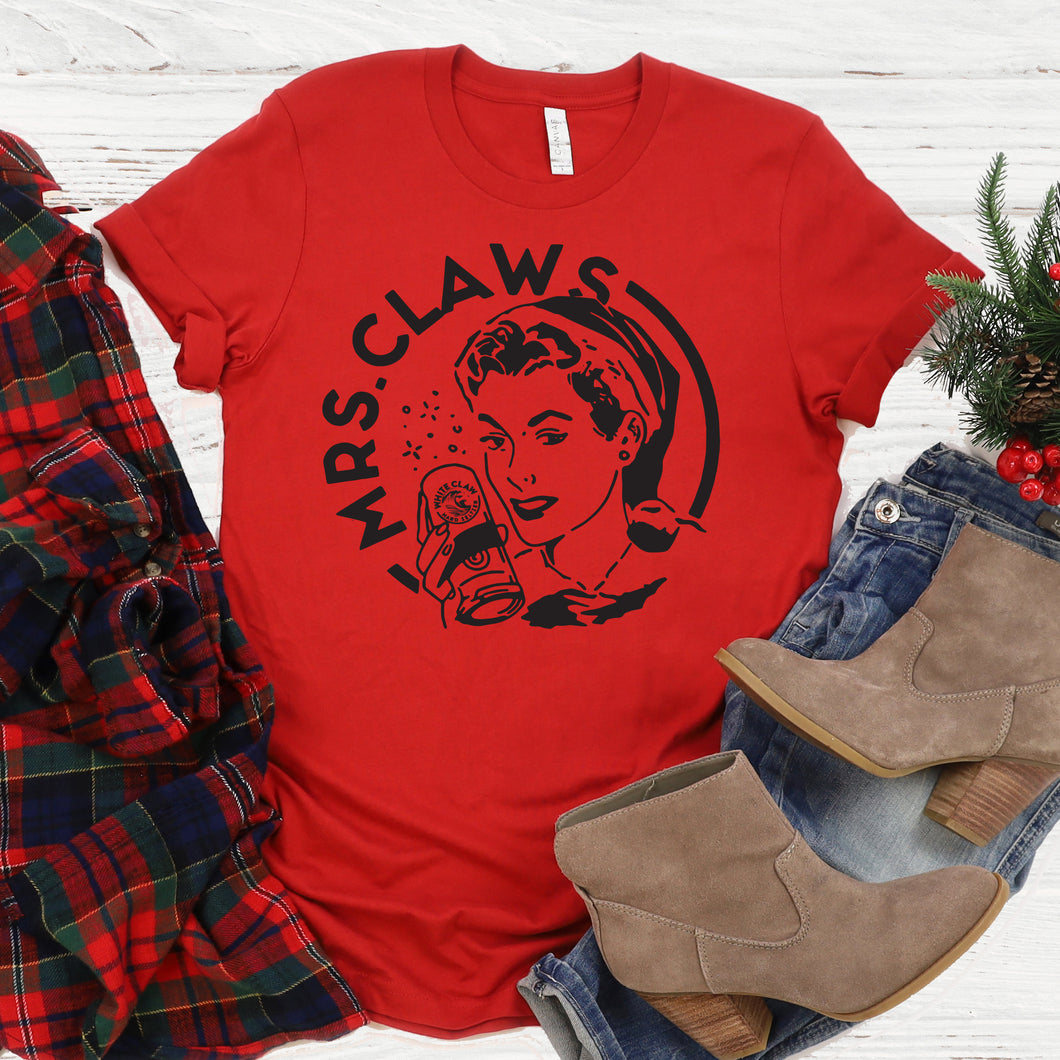 Mrs. Claws Christmas Tee