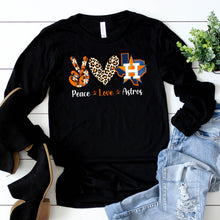 Load image into Gallery viewer, Peace Love Astros Long Sleeve