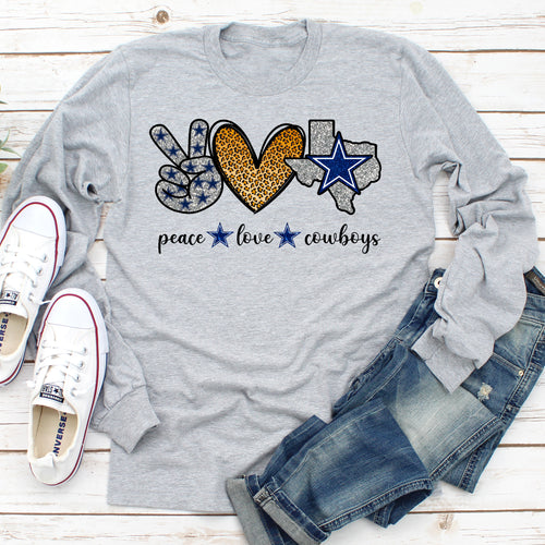 Peace Love Dallas Cowboys Long Sleeve