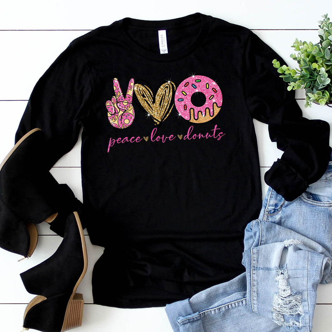 Peace Love Donuts Long Sleeve