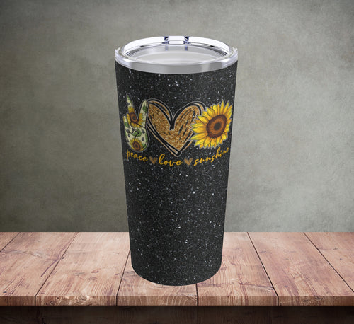 Peace Love Sunshine Tumbler