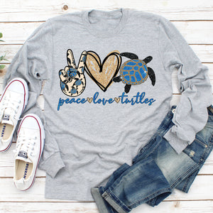Peace Love Turtles Long Sleeve