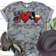 Load image into Gallery viewer, Peace Love Texas Tee
