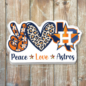 Peace Love Houston Astros Sticker