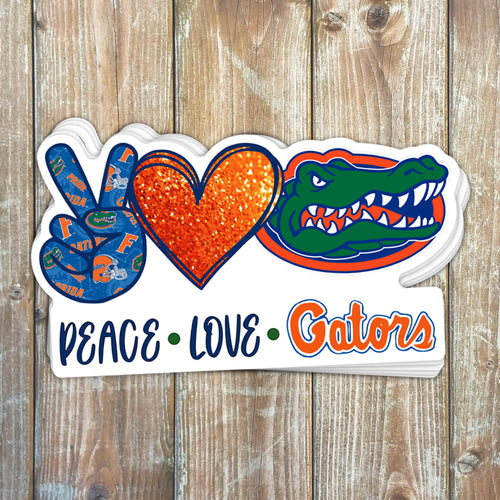 Peace Love Gators Sticker