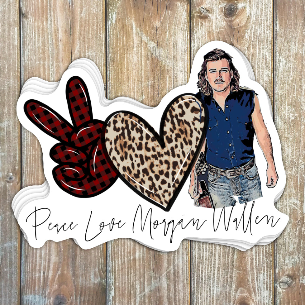 Peace Love Morgan Wallen Sticker