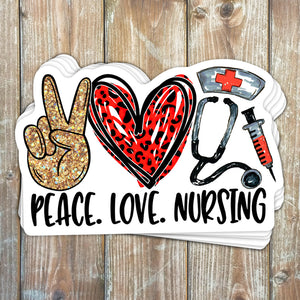 Peace Love Nursing Sticker