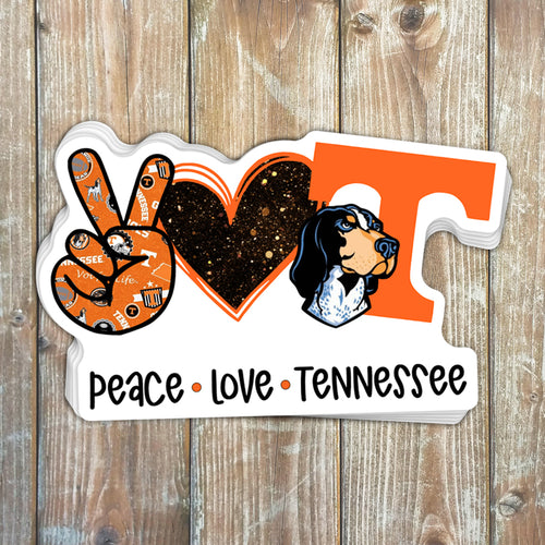 Peace Love Tennessee Sticker