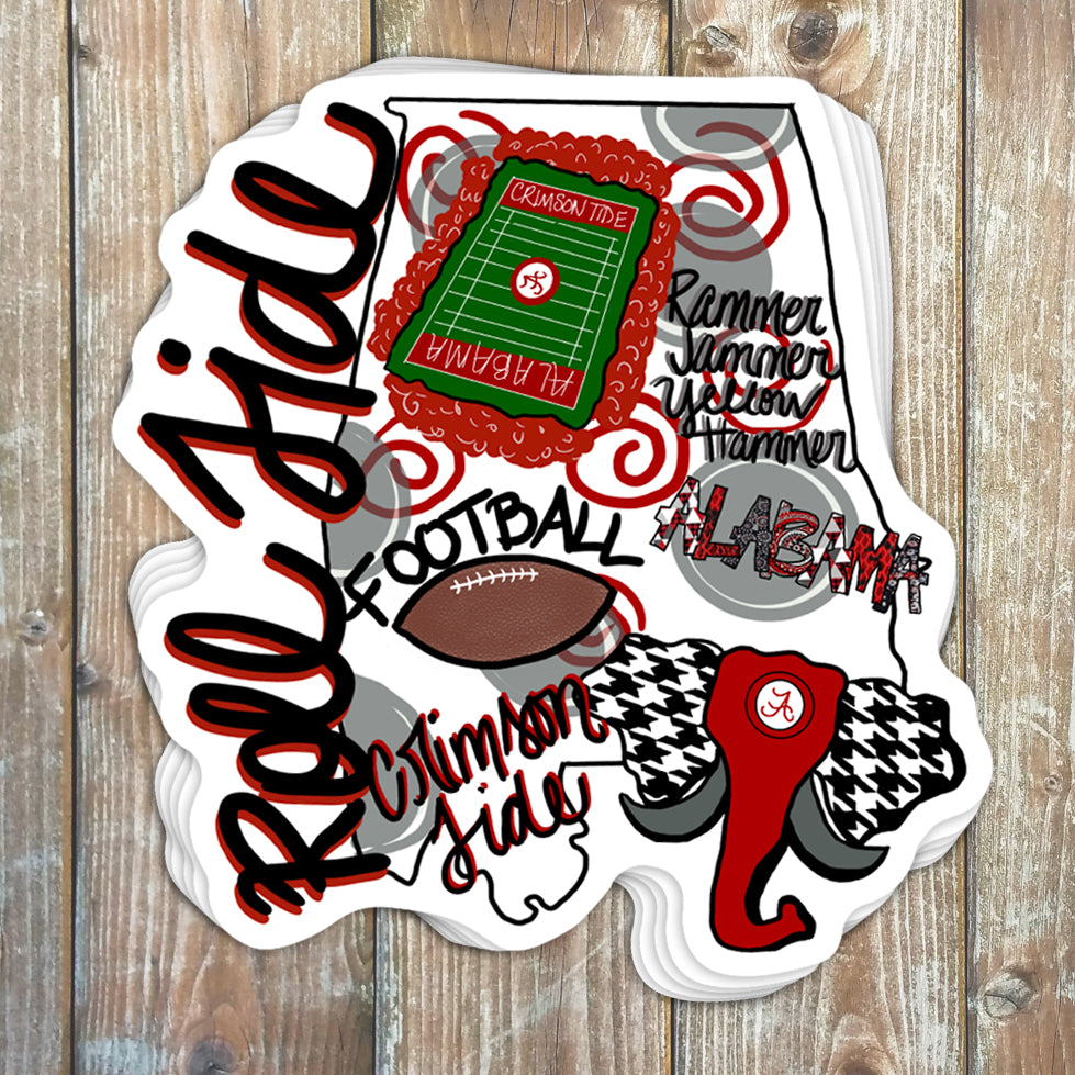 Roll Tide State Sticker