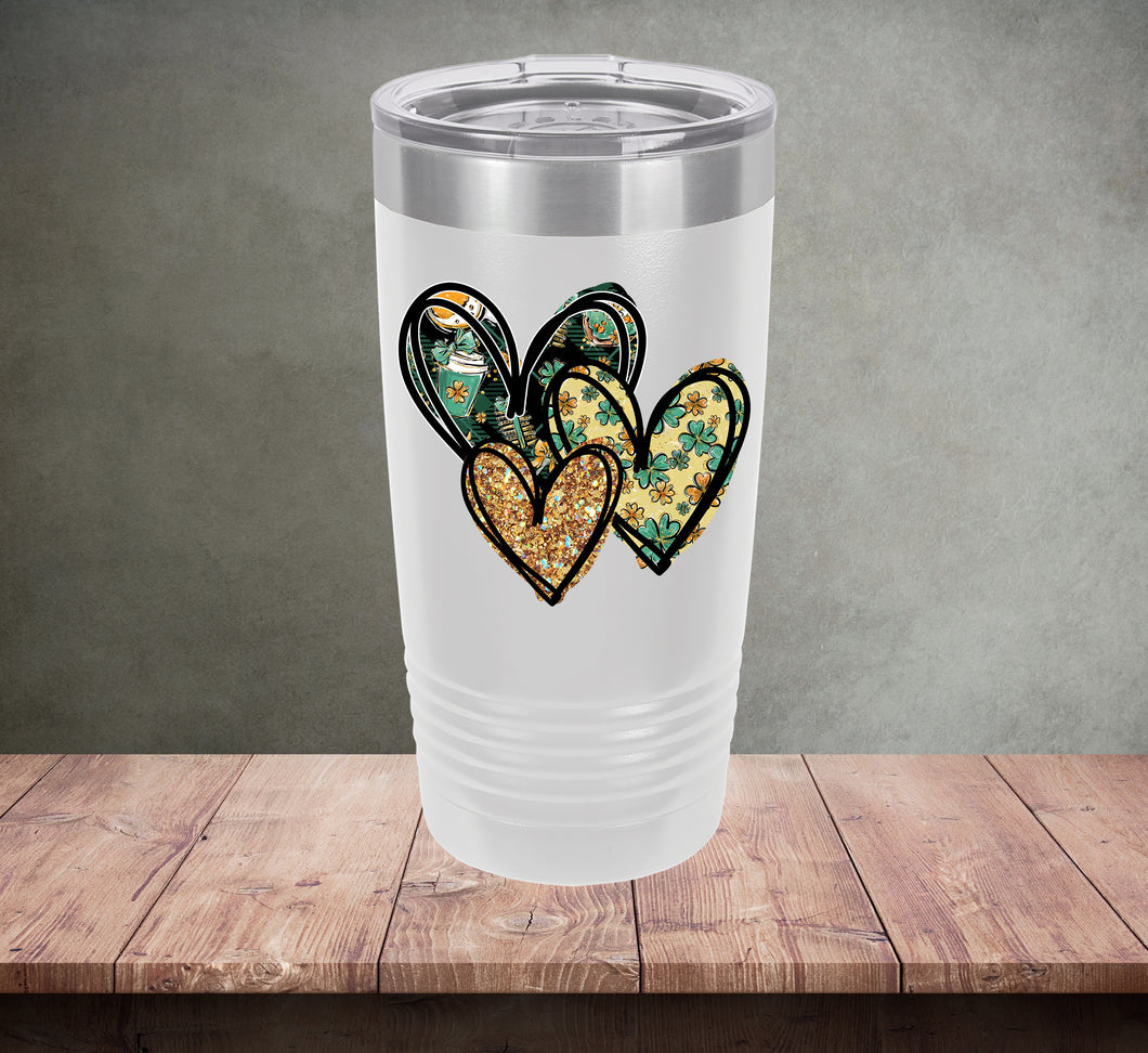 St. Patty's Day Hearts Tumbler