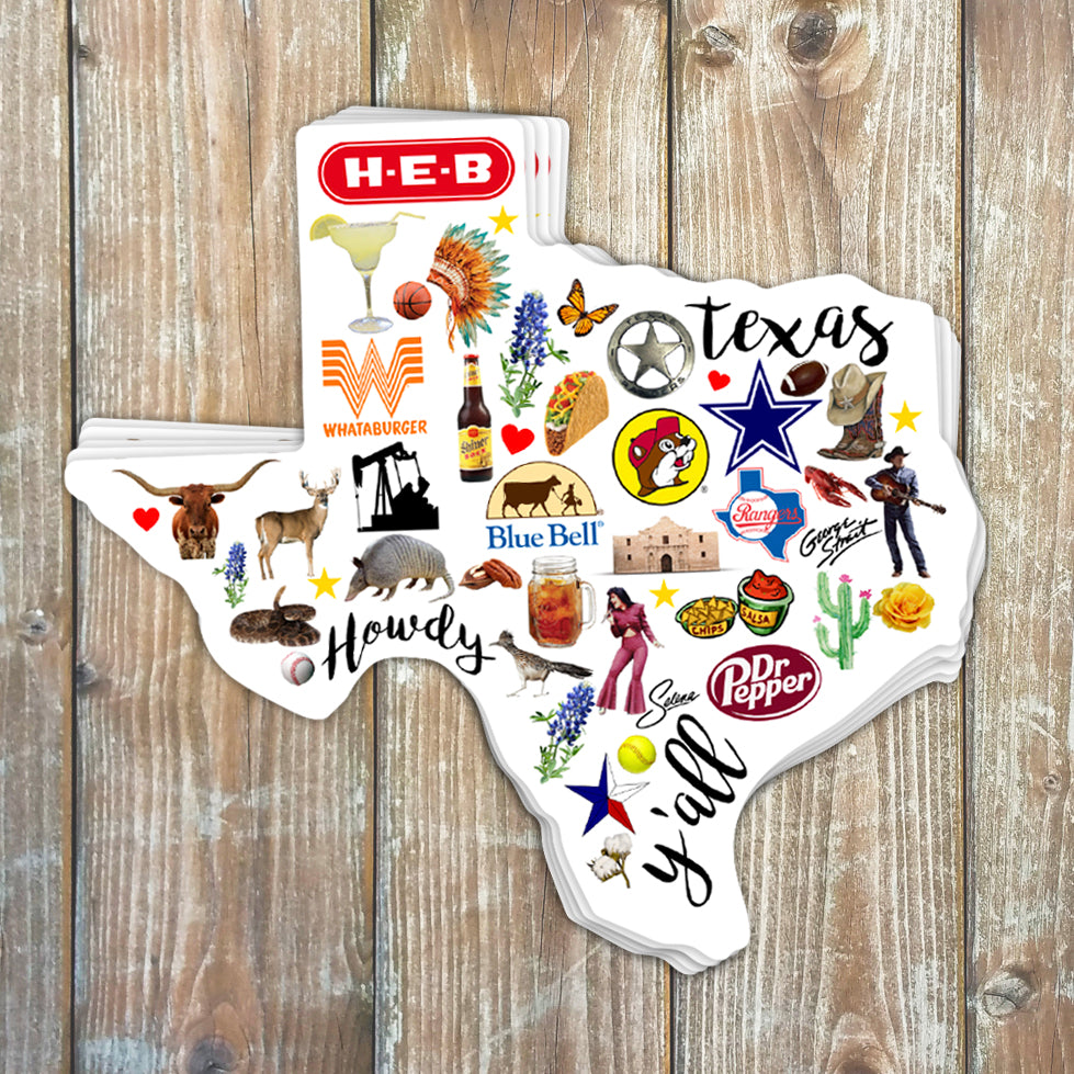 Texas Favorites Sticker
