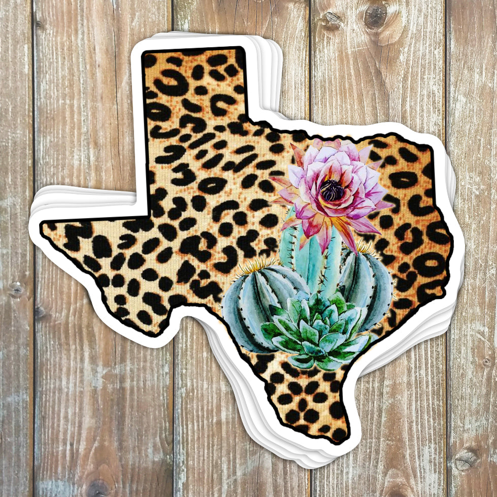 Texas Leopard Sticker