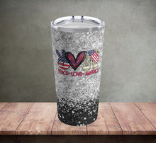 Load image into Gallery viewer, Peace Love America Tumbler