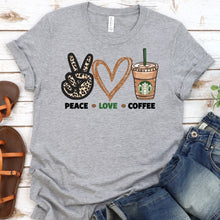 Load image into Gallery viewer, Peace Love Coffee Tee