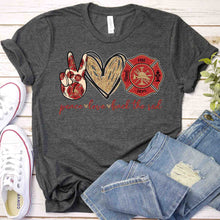 Load image into Gallery viewer, Peace Love Back The Red Tee