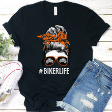 Load image into Gallery viewer, Biker Life Messy Bun Tee