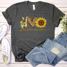 Load image into Gallery viewer, Peace Love Sunshine Tee