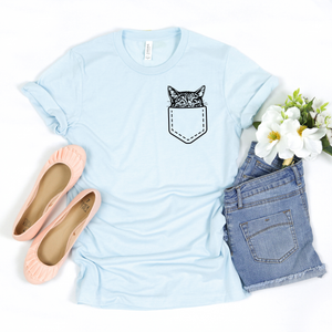 Cat Hidden Pocket Tee