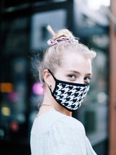 Load image into Gallery viewer, Houndstooth Cotton Face Mask