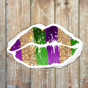 Mardi Gras Kiss Sticker