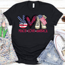Load image into Gallery viewer, Peace Love America Tee