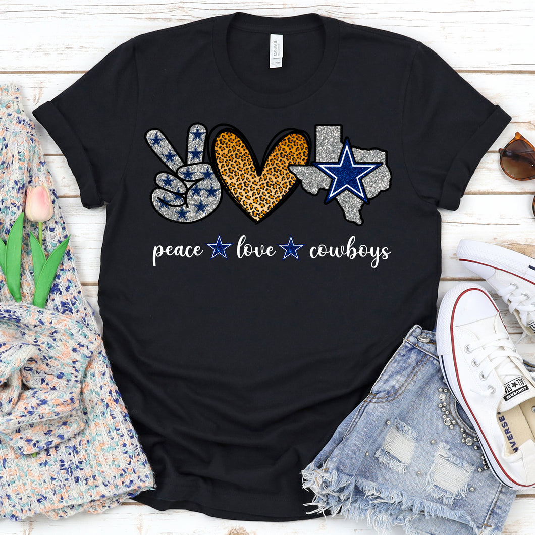 Peace Love Dallas Cowboys Tee