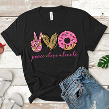 Load image into Gallery viewer, Peace Love Donuts Tee