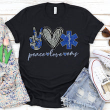 Load image into Gallery viewer, Peace Love EMS Tee