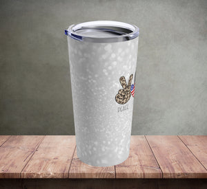 Peace Love First Responders Tumbler