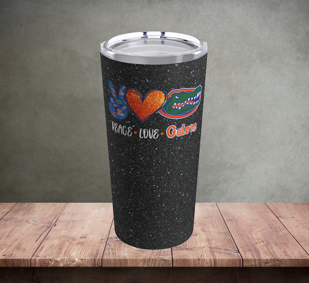 Peace Love Gators Tumbler