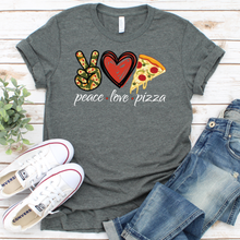 Load image into Gallery viewer, Peace Love Pizza Tee