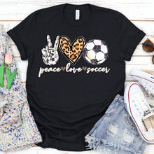 Load image into Gallery viewer, Peace Love Soccer Tee