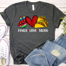 Load image into Gallery viewer, Peace Love Tacos Tee