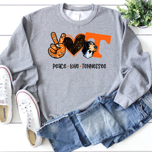 Peace Love Tennessee Crew Neck Sweater